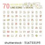 vector graphic set.logo  icon.... | Shutterstock .eps vector #516733195