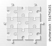 puzzle piece business... | Shutterstock .eps vector #516741631