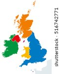 british isles countries... | Shutterstock .eps vector #516742771