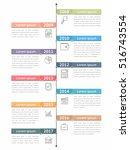 vertical timeline infographics...   Shutterstock .eps vector #516743554