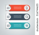 modern infographic elements.... | Shutterstock .eps vector #516744655