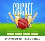 cricket poster event info...   Shutterstock .eps vector #516745837