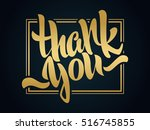thank you lettering. hand... | Shutterstock .eps vector #516745855
