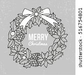 merry christmas and happy new... | Shutterstock .eps vector #516754801