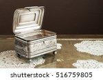 Silver Casket  Jewelry Trinket...