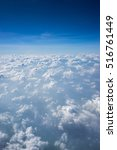 clouds and sky as seen through... | Shutterstock . vector #516761449