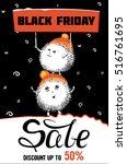 black friday  flat  funny... | Shutterstock .eps vector #516761695