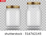 set of glass jars for canning... | Shutterstock .eps vector #516762145
