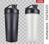 mock up plastic sport nutrition ... | Shutterstock .eps vector #516762151