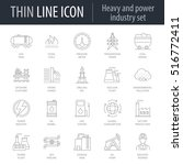 icons set of heavy and power... | Shutterstock .eps vector #516772411