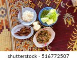 traditional thai spicy lunch... | Shutterstock . vector #516772507