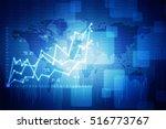 business graph 2d rendaring   Shutterstock . vector #516773767