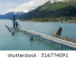 industiral pipe at the port of... | Shutterstock . vector #516774091