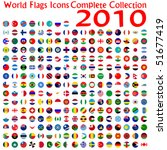 world flags icons collection ... | Shutterstock .eps vector #51677419