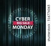 cyber monday binary code design ... | Shutterstock .eps vector #516776065