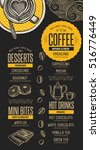 coffee menu placemat food... | Shutterstock .eps vector #516776449