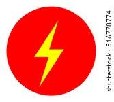 lightning icons vector eps 10...   Shutterstock .eps vector #516778774