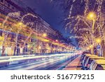 christmas light in central... | Shutterstock . vector #516779215