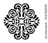vector thai pattern in wall... | Shutterstock .eps vector #516782035