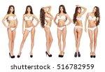 collage snap models. full... | Shutterstock . vector #516782959