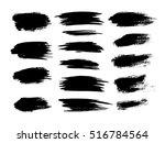 set of brush strokes | Shutterstock .eps vector #516784564