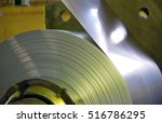 galvanized steel coil in steel... | Shutterstock . vector #516786295