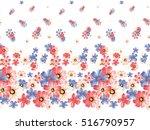 seamless watercolor flower | Shutterstock . vector #516790957