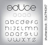 minimal modern letters | Shutterstock .eps vector #516794347