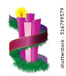 Advent Candles Wreath With...