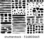 large set of hand drawn grunge... | Shutterstock .eps vector #516803665