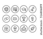 outline education icon | Shutterstock .eps vector #516806899