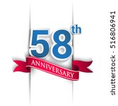 58th anniversary logo  blue and ... | Shutterstock .eps vector #516806941