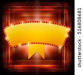 abstract shining retro light... | Shutterstock .eps vector #516808681