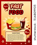 poster  ad fast food.... | Shutterstock .eps vector #516809935