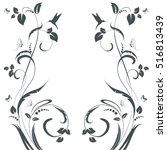elegant floral swirl frame for...   Shutterstock .eps vector #516813439