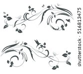 collection of floral swirl borders for your design