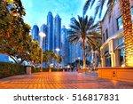 Dubai Marina With  Skyscrapers...