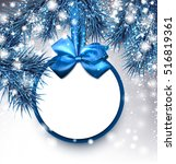 Blue Christmas Background With...