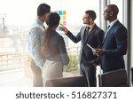 multiracial business team... | Shutterstock . vector #516827371