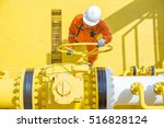 offshore oil and gas operations ... | Shutterstock . vector #516828124
