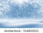 christmas background. winter... | Shutterstock . vector #516832021
