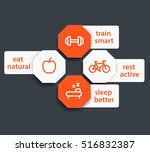 fitness tags with line icons ...