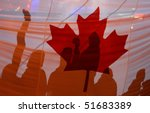 Canadian flag - stock photo