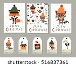 set of christmas and new year... | Shutterstock .eps vector #516837361