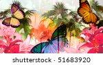 tropical palmtree island scenic ... | Shutterstock . vector #51683920