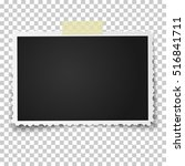 realistic vector photo frame... | Shutterstock .eps vector #516841711