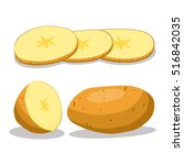 abstract vector icon... | Shutterstock .eps vector #516842035