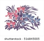 beautiful orchid on white...   Shutterstock . vector #516845005