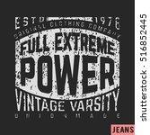 t shirt print design. stamp.... | Shutterstock .eps vector #516852445