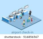 isometric flat 3d concept...   Shutterstock .eps vector #516856567